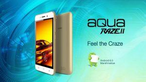Intex Aqua Raze II con Android 6.0 Marshmallow y 4G VoLTE lanzado en India por ₹ 4990