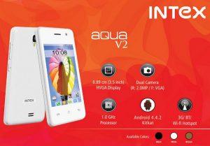 Intex Aqua V2 con pantalla de 3,5 pulgadas lanzado para Rs.  3090