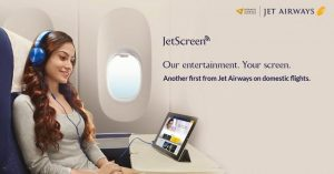 Jet Airways lanza el servicio de entretenimiento a bordo JetScreen