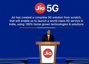 Jio lanzará servicios 5G a fines de 2021, dice Mukesh Ambani