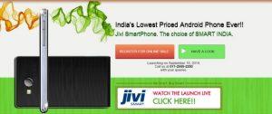 Jivi SmartPhone, el teléfono inteligente Android más barato que funciona con Gingerbread, lanzado por Rs.  1999