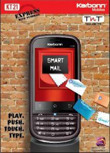Karbonn Mobiles lanza el KT-21 Express con Smart Mail y mensajería instantánea con tecnología Emoze