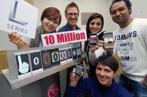 LG: 10 millones de teléfonos inteligentes de la serie L vendidos en todo el mundo