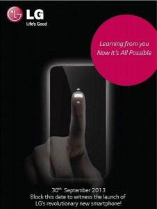 LG G2 se anunciará en India el 30 de septiembre