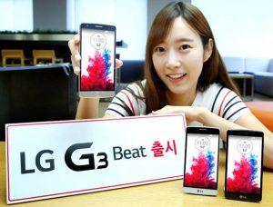 LG G3 Beat con pantalla HD de 5 pulgadas y cámara de enfoque automático láser de 8 MP anunciado