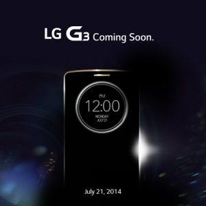 LG G3 se lanzará en India el 21 de julio