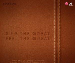 LG G4 se dará a conocer oficialmente el 28 de abril