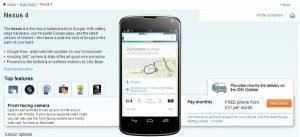 LG Nexus 4 listo para pre-pedido en Carphone Warehouse, especificaciones reveladas