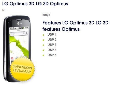 LG Optimus 3D, teléfono Android filtrado