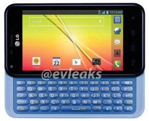 LG Optimus F3Q con teclado deslizante QWERTY filtrado