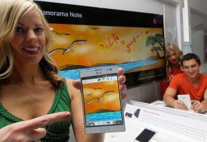 LG Optimus Vu II con la nueva función Panorama Note presentada en CES