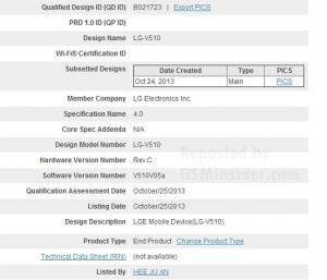 LG-V510 detectado en la certificación Bluetooth;  Podría ser la tableta Nexus 8