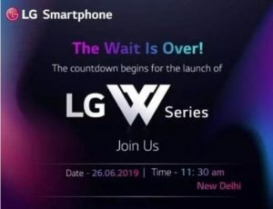 El teléfono inteligente LG W10 se lanzará en India el 26 de junio