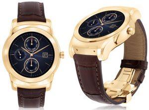 LG Watch Urbane Luxe, edición limitada, reloj inteligente Android Wear de oro de 23 quilates anunciado