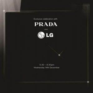 LG anunciará el próximo teléfono Prada este mes
