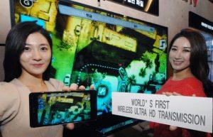 LG demuestra la tecnología de transmisión inalámbrica Ultra HD