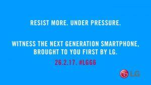 LG dice que G6 es resistente al agua y al polvo