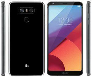 El renderizado de prensa filtrado de LG G6 en color negro muestra la parte posterior brillante del dispositivo