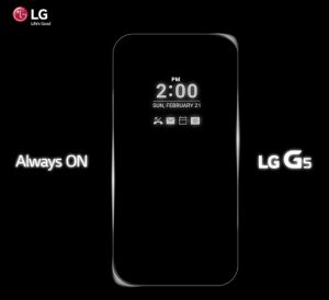LG revela la pantalla 'Siempre encendida' para LG G5