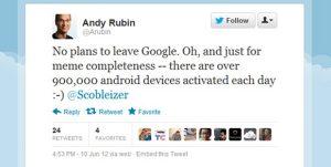 La activación de Android alcanza los 900.000 dispositivos al día
