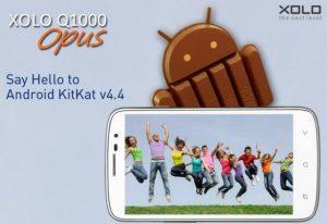 La actualización de Android 4.4 KitKat para XOLO Q1000 Opus ya está disponible