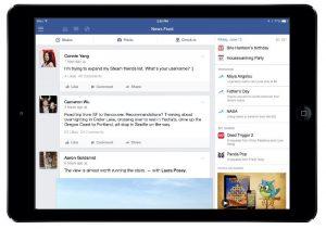 La actualización de Facebook para iPad trae nueva barra lateral de juegos y más