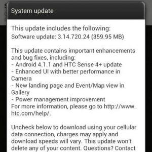La actualización de HTC One X Jelly Bean comienza a implementarse en India