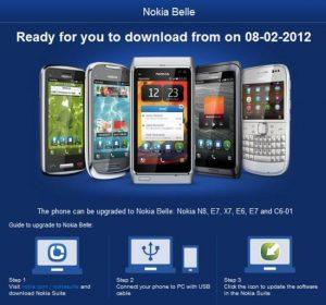 La actualización de Nokia Belle llegará el 8 de febrero