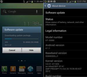 La actualización de Samsung Galaxy S III Android 4.1 Jelly Bean comienza a implementarse en India