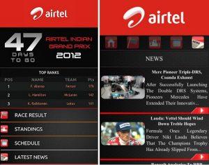La aplicación Airtel India Grand Prix 2012 ya está disponible para Android e iOS
