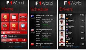 La aplicación F1 World te ofrece todo el zumbido de la F1 en tu Windows Phone