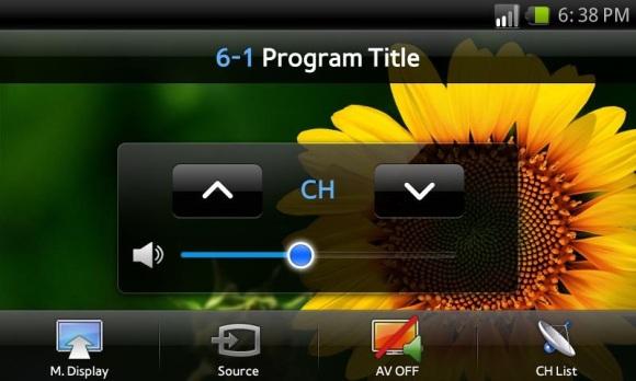La aplicación Samsung Smart View transmite TV a Galaxy S II