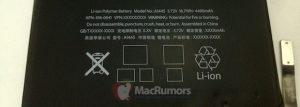 La batería del iPad Mini podría llegar con una capacidad de 16,7 vatios-hora, se filtran fotos