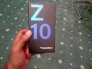 La caja minorista de BlackBerry Z10 se filtra antes del lanzamiento oficial