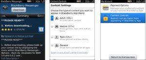La calificación de la aplicación llega a BlackBerry App World 3.1