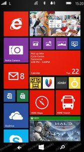 La captura de pantalla filtrada de Windows Phone 8.1 / Blue revela botones de navegación en pantalla