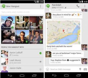 La compatibilidad con SMS para Google Hangouts comienza a implementarse para dispositivos Android que ejecutan v4.0.3 y versiones posteriores