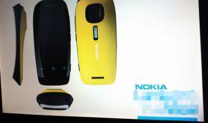 La diapositiva filtrada sugiere que este podría ser el teléfono inteligente Lumia equipado con Pureview
