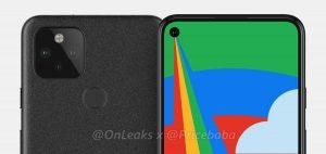 La filtración del diseño de Google Pixel 5 revela una pantalla perforada y cámaras traseras duales