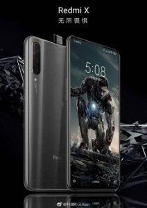 La filtración del póster del teléfono inteligente insignia de Redmi X muestra una cámara selfie emergente