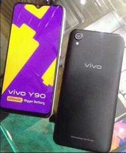 La fuga de imagen en vivo de Vivo Y90 muestra el diseño del teléfono con una pantalla de muesca de gota de agua