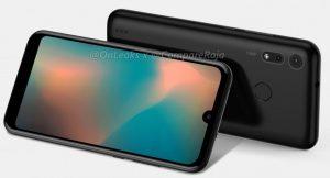 La fuga de renderizado del Motorola P40 Play muestra una muesca de gota de agua y cámaras traseras duales