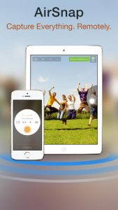 La función Camera Plus AirSnap incluye al fotógrafo en la toma usando dos dispositivos iOS