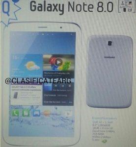 La imagen del Samsung Galaxy Note 8.0 se filtra, pero ¿es esto real?