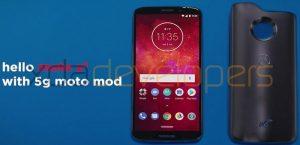La imagen en vivo de Moto Z3 Play y 5G Moto Mod se filtra en línea