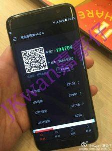 La imagen en vivo del Samsung Galaxy S7 edge revela una puntuación de referencia increíble de AnTuTu