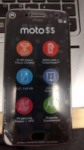La imagen filtrada del supuesto Moto G5 Plus revela una pantalla de 5.2 pulgadas y una cámara de 12 MP