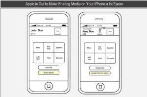 La nueva patente de iPhone de Apple muestra cómo hacer que compartir medios sea más fácil