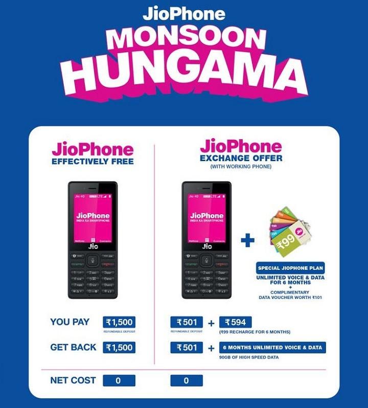 jiophone-monzón-hungama-oferta