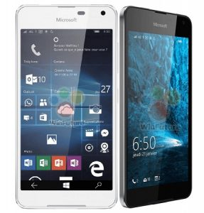 La prensa Microsoft Lumia 650 renderiza la superficie que revela el marco de metal